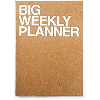 JSTORY Big Weekly Planner Stitch Bound Lays Flat Huge Undated Year Round Flexible Cover Goal/Time Organizer Thick Paper Eco Friendly Customizable A4 ...