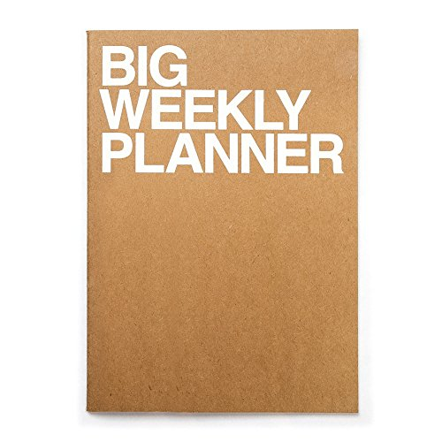 - JSTORY Big Weekly Planner Undated Simple Customizable Eco Friendly Huge A4 54 Weeks 28 Sheets Kraft