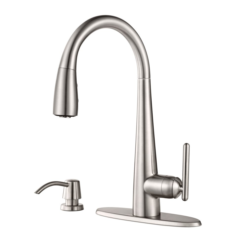 Pfister GT529-SMS Lita Single Handle Pull-Down Kitchen Faucet with ...