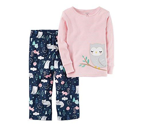 Carter's Girls' 12 Months-12 2 Piece Owl Pajama Set (Girls Carters 2 Piece Pajamas)