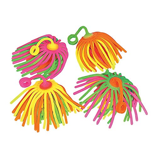 Neon Large Stretchy Noodle Ball YoYos by Fun Express
