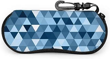 Jeffrey Toynbee Diseño geométrico limpio azul Estuches para anteojos suaves Estuches para anteojos Estuche blando con cremallera Estuche de gafas coloridas: Amazon.es: Ropa y accesorios