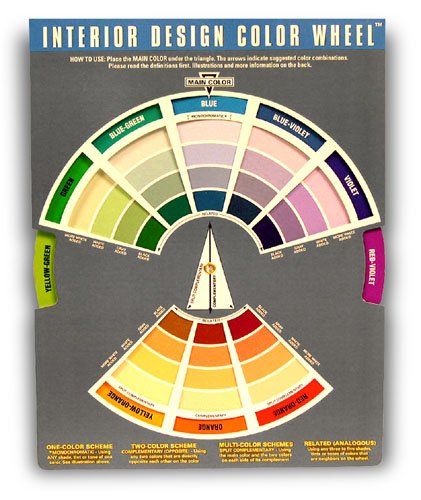 Amazon.com: Interior Design Color Wheel Helps You Harmonize Your Interior  Design Projects.