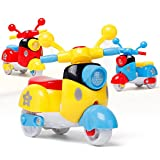 Ghazzi Mini Motorcycle Toy Early Model Educational Toys Developmental Intelligence Toy for Kids Puzzle Educational Learning Toy Growing Experiment Gift Toy Pretend Toy Toddlers Toy (Random Color)