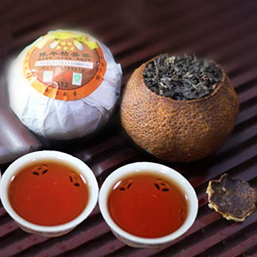 Yunnan Tea Pu'er tea Orange Puer cooked tea Tangerine peel Packaging Puerh 250g (0.55LB) Black tea Puer tea Chinese tea Pu er tea Ripe tea shu cha Puerh tea Pu-erh tea Old trees Pu erh tea Red tea - Old Tree Pu Erh Tea