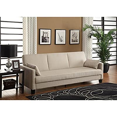 Dorel Home Products Vienna Sofa Sleeper with 2 Pillows