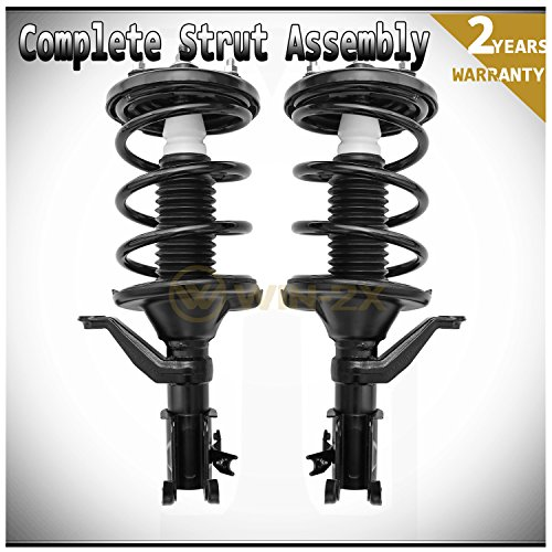 WIN-2X New 2pcs Front Left & Right Side Quick Complete Suspension Shock Struts & Coil Springs Assembly Kit Fit Honda Civic 02-05 Si 3-Door Hatchback 03-05 2-Door Coupe/4-Door Sedan (Honda Civic 4dr Cross)
