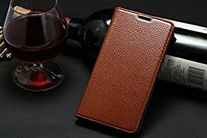 """Hi5Gadget Litchi Genuine Leather Side Flip Stand Case for 4.7"""" iPhone 6 (Brown)"""