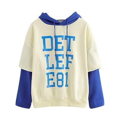 Jaminy Damen Pullover Kapuzenpullover Hoodie Sweatshirt Mädchen Kapuzenpullover Hooded Sweatshirt S-XL
