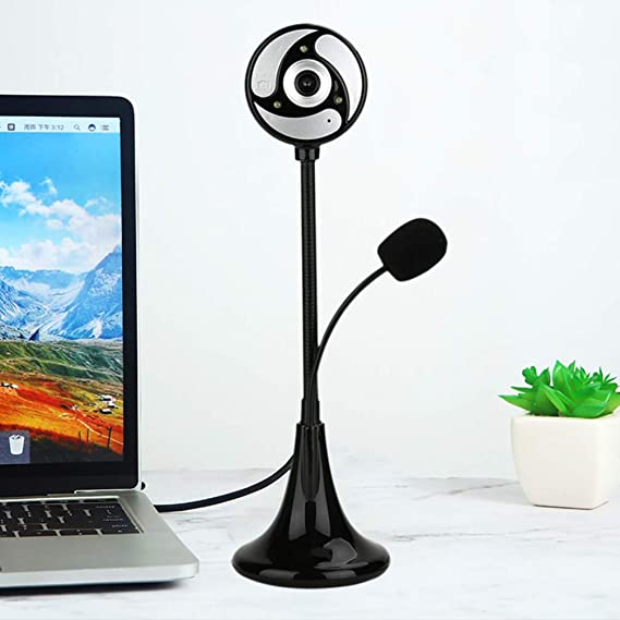 Uonlytech Webcam With Hd Stereo Microphones Usb Computers Accessories