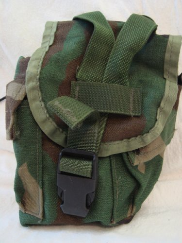 Military Surplus MOLLE Canteen Cover Camping Pouch ()