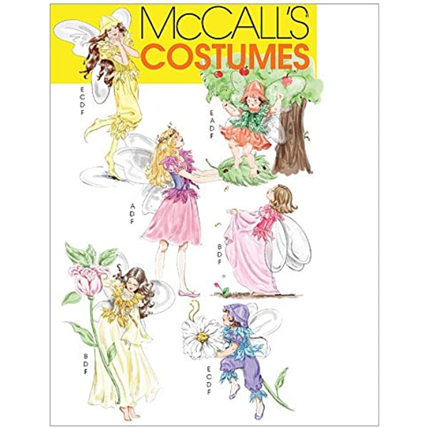 Pattern McCalls Sewing Girl Fairy Angel Costume Accessories NEW