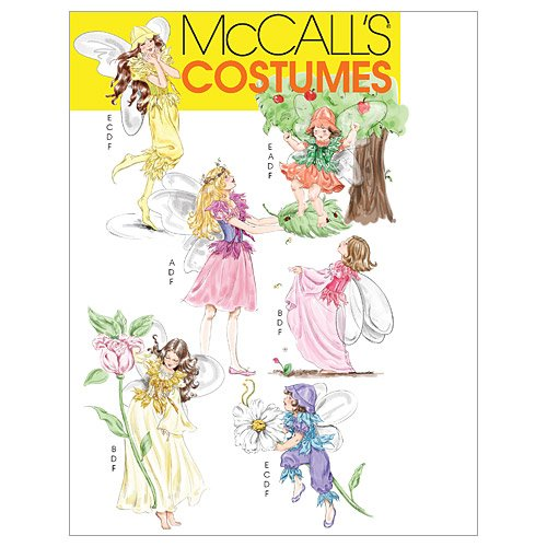 McCall's Patterns M5732 Misses'/Children's/Girls' Fairy Costumes, Size Kid [(3-4) (5-6) (7-8)]