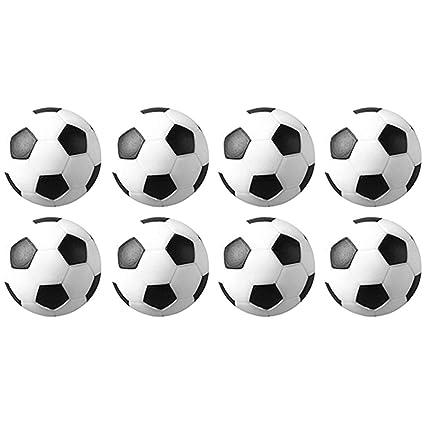 Lqz 8 Piezas Mini Mesa Futbolín Balones De Fútbol Pelota De