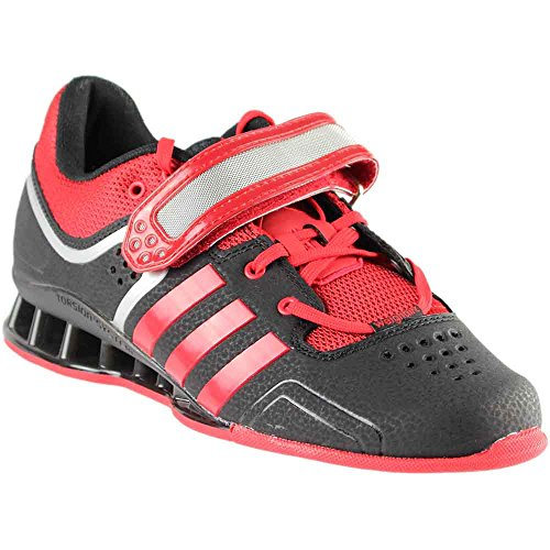 adidas Performance Adipower Weightlifting Trainer Shoe,Black/Light Scarlet/Tech Grey,16 M US