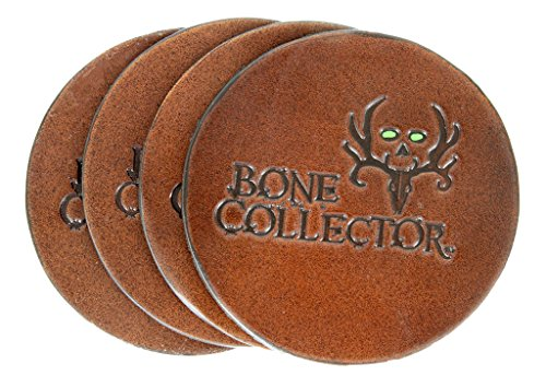 Bone Collector Outdoor Channel TV Sportsman Genuine Leather Coaster-Brown