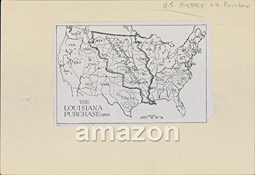 Antique Print Map of United States - Louisiana Purchase 1803 (AII-491) - Louisiana Antique Map