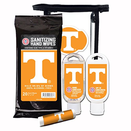 Worthy Promotional NCAA Tennessee Volunteers 4-Piece Premium Gift Set with SPF 15 Lip Balm, Sanitizer, Wipes, Sunscreen ()