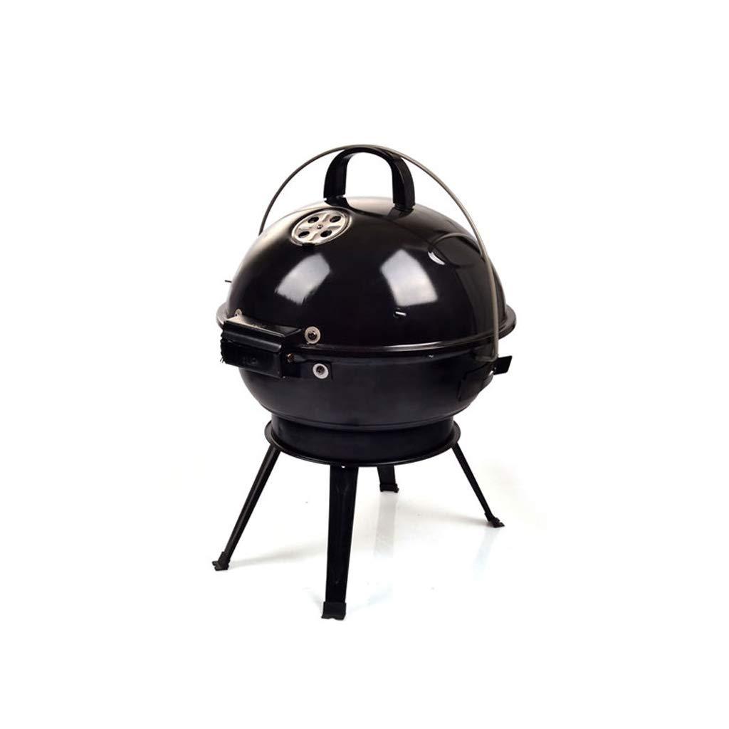 WEINXIN Outdoor BBQ Grill Portable Charcoal BBQ Camping Garden BBQ Grill, Black Grill by WEINXIN