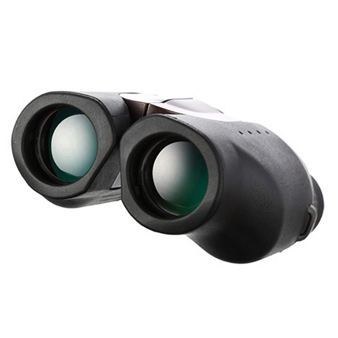 FELICIOO Binoculares 8X25 Gafas portátiles HD portátiles para Uso Uso Uso en Exteriores (Color : Negro) ae0498