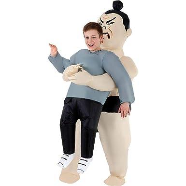 Amazon.com: Disfraz de luchador de Sumo inflable para niños ...