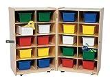 Kid's Play Folding Vertical Storage Unit w 20 Assorted Trays