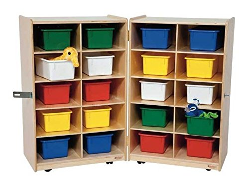 Kid's Play Folding Vertical Storage Unit w 20 Assorted Trays