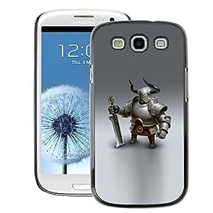A-type Arte & diseño plástico duro Fundas Cover Cubre Hard Case Cover para Samsung Galaxy S3 (Viking Knight Swordsman Cgi Graphics)