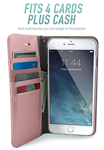 Silk iPhone 7 Plus/8 Plus Wallet Case - FOLIO WALLET Synthetic Leather Portfolio Flip Card Cover with Kickstand -Keeper of the Things - Rose Gold by Silk (Image #2)