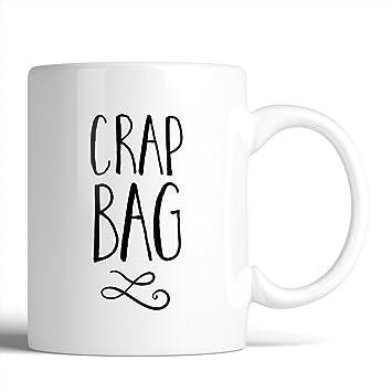Amazon Com F R I E N D S Crap Bag 11oz Ceramic Coffee Mug