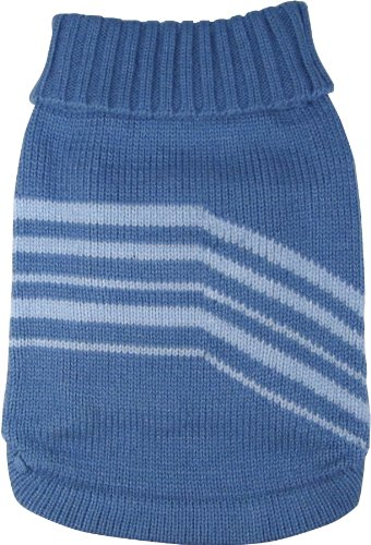 Dogit Style Striped Dog Sweater, Large, Blue, My Pet Supplies