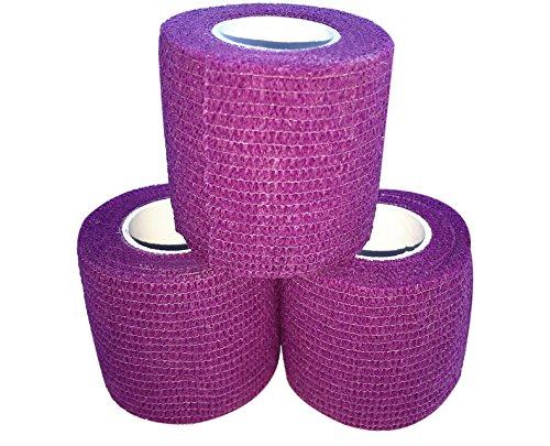 Purple Hockey Tape - zechy Grip Tape - Hockey, Baseball, Lacrosse, Anything You Need a Better Grip on - 2 inch by 15 feet (3 Pack) (Purple)