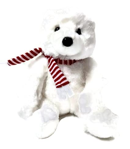 Amazon Com Small Miki Polar Bear With Scarf Toys Games