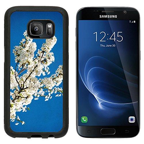 msd-premium-samsung-galaxy-s7-aluminum-backplate-bumper-snap-case-vintage-spring-flowering-tree-on-b