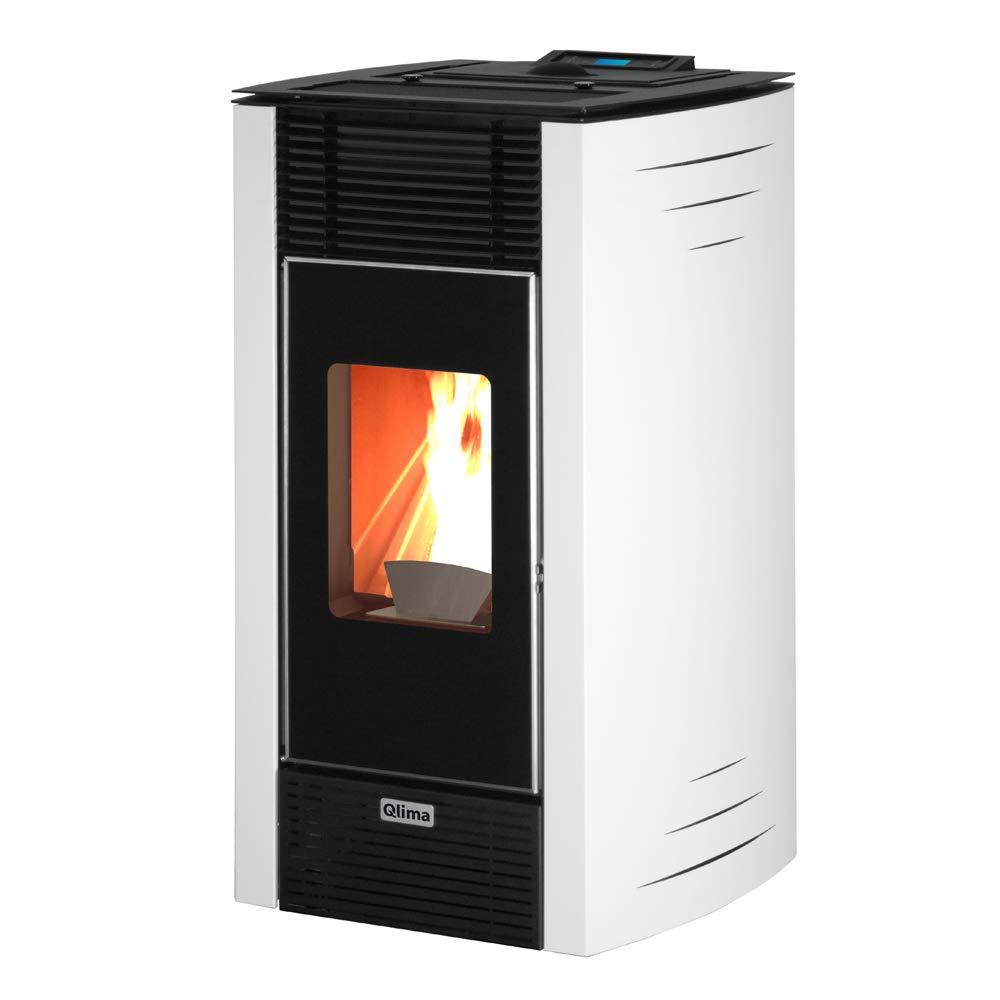 Qlima estufa de pellets 6.7kw blanca Calefacción ambientes ...