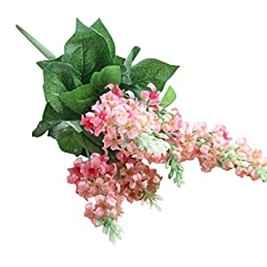 LNGRY Artificial Silk Fake Flowers Hyacinth Floral Wedding Bouquet Hydrangea Home Party Decor (Pink) 22