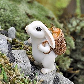 Miniature Bunny Rabbit W Carrot Georgetown Fairy Garden Dollhouse