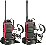 walkie talkie range - Arcshell Rechargeable Long Range Two-Way Radios with Earpiece 2 Pack Walkie Talkies UHF 400-470Mhz Li-ion Battery and Charger Included