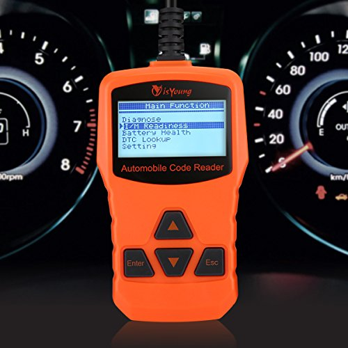 isYoung Vehicle Scan Tool OBD/EOBD CAN Diagnostic Tool 10 Modes OBDII Test + Quick Battery Health Check Engine Scanner for AUDI/VW/SKODA/BENZ/BMW/PORSCHE/GM & Other Car/SUV/Light Duty Vehicle(Orange) by isYoung (Image #6)