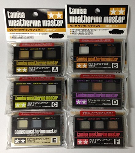 TAMIYA Weathering Master 6-Sets(A,B,C,D,E,F) [Japan Import] ()