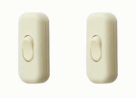 Interruptor Torpedo / [2 Paquete] Interruptor Inline Blanco SFTlite Utilice Interruptor en Línea 2 ó 3 Inline, Interruptor Inline de Lámpara / Luz / ...