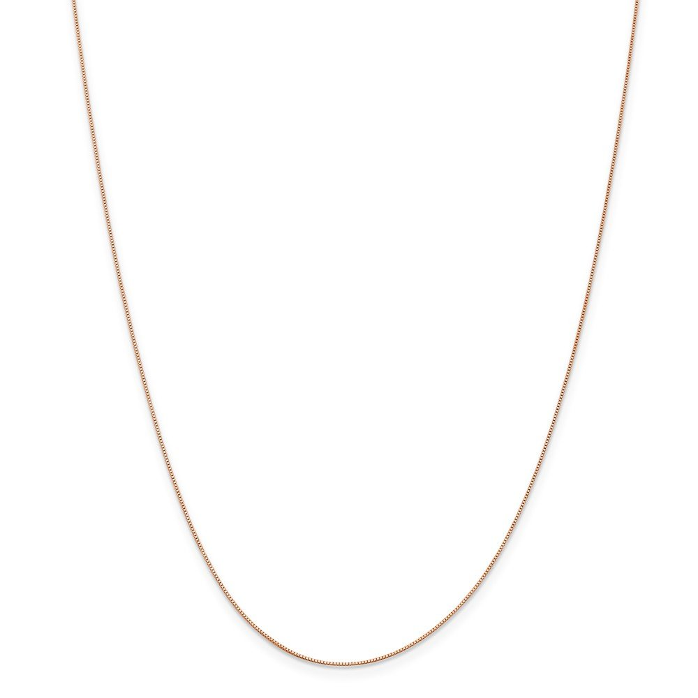 Top 10 Jewelry Gift Leslie 14K Rose Gold .5 mm Baby Box Chain