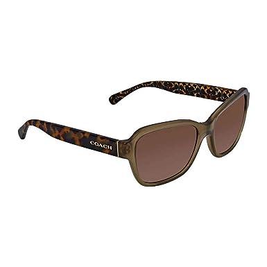 04ab69f86994 Coach Womens Sunglasses Green Brown Acetate - Non-Polarized - 56mm