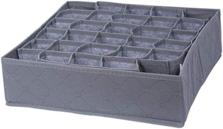 HAHAJY Caja de Almacenamiento de Ropa Interior de carbón Vegetal de bambú de 30 Celdas con Caja de Almacenamiento de clóset con cajones r, Gris: Amazon.es: Hogar