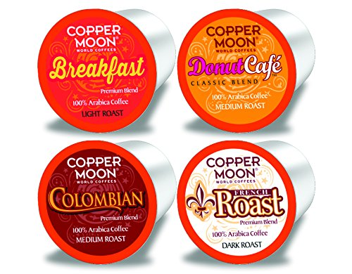 Copper Moon Single Cups, For Keurig K-cup Brewers, Donut/Breakfast/Colombian/French Roast, 80 Count