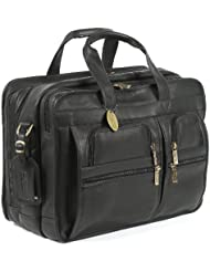 Claire Chase Jumbo Executive Computer Briefcase, Black, One Size