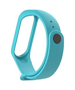 Techonto Band Strap for Xiaomi Mi Band 3(Device not Included)-Cyan