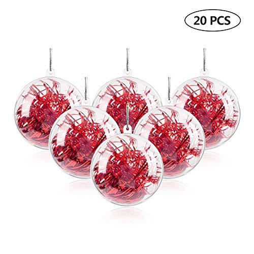 uten 20pcs diy ornament balls christmas decorations tree ball 31580mm clear fillable baubles