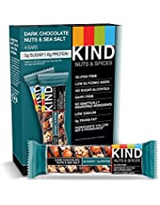 KIND Bars, Dark Chocolate Nuts & Sea Salt, Gluten Free, 1.4 Ounce Bars
