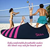 Shoes Best Deals - Unisex Barefoot Water Skin Shoes for Beach Swim Surf Yoga Exercise (M(US 6-7/EU 36-37), Red)